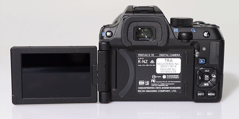 Pentax K-70 DSLR Camera with 18-55mm WR Lens and Extended Warranty in the use