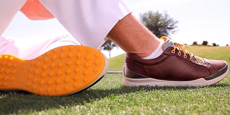 ECCO Men's Biom Hybrid 2 Golf Shoe in the use