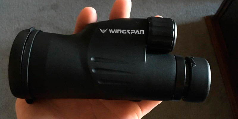 Wingspan Optics High Powered Monocular 12X50, Bright and Clear Range of View, Waterproof in the use