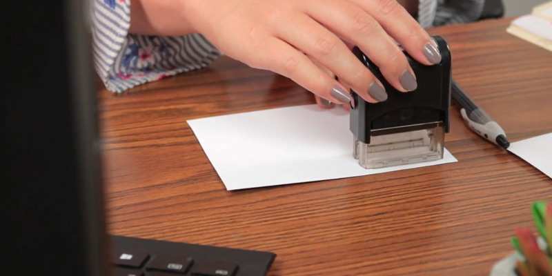 Review of ExcelMark Up to 3 Lines Custom Self-Inking Stamp