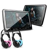 XTRONS Portable Dual DVD Player  with Headphones