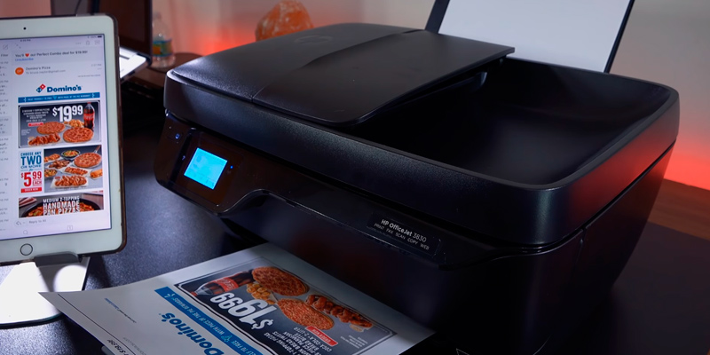 HP Officejet 3830 Wireless All-in-One Printer in the use