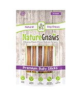 Nature Gnaws Bully Sticks Beef Chew Treats for Dogs