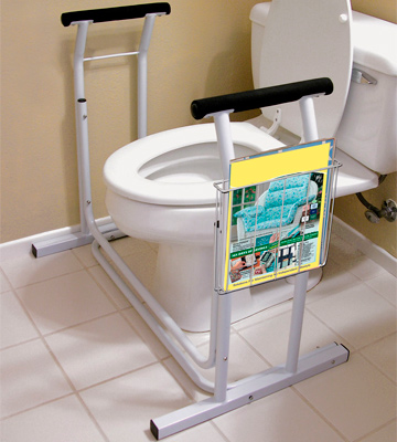 Review of VIVE Medical Bathroom Safety Assist Frame Stand Alone Toilet Rail
