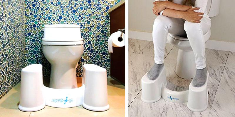 Squat N Go Detachable Toilet Stool in the use