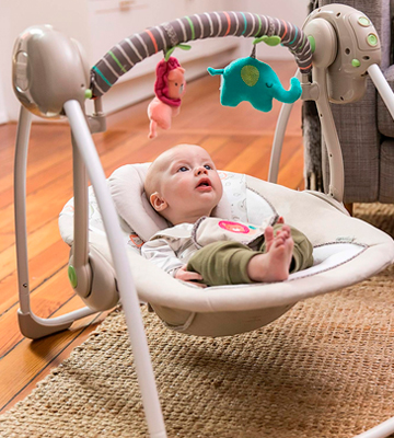 Review of Ingenuity 60194 Cozy Kingdom Portable Swing
