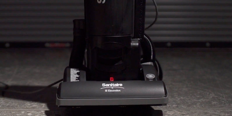 Sanitaire SC5745A Commercial Upright Bagless Vacuum Cleaner in the use