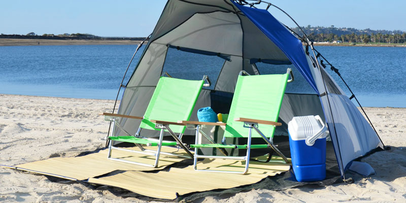 Lightspeed Outdoors Quick Cabana Beach Tent in the use & 5 Best Beach Tents Reviews of 2018 - BestAdvisor.com