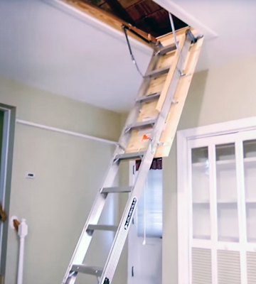 Review of Louisville Ladder AA2210 Elite Aluminum Attic Ladder