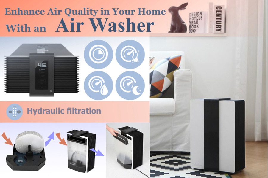 Comparison of Air Washers for Cleaning Indoor Air