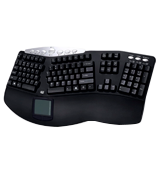 Adesso PCK-308UB Ergonomic Keyboard with TouchPad