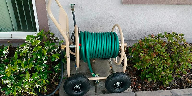 Review of Liberty Garden Products Professional Garden Hose Reel Cart