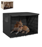 Explore Land Dog Crate Cover Durable Polyester Pet Kennel Cover Universal Fit