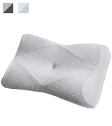 Mkicesky Memory Foam Neck Pillow for Back Sleepers
