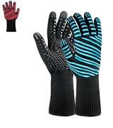 Semboh Heat Resistant Gloves Extreme Heat Resistant BBQ Gloves, Food Grade Kitchen Oven Mitts