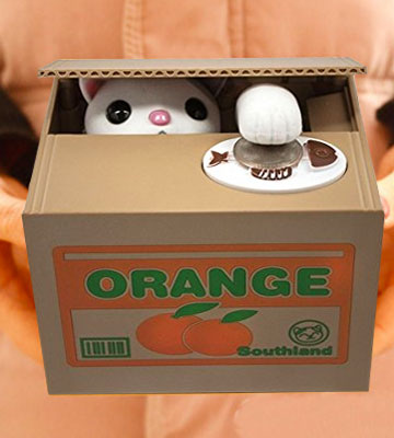 Review of Matney Cat Piggy Bank Stealing Coin Cat Box