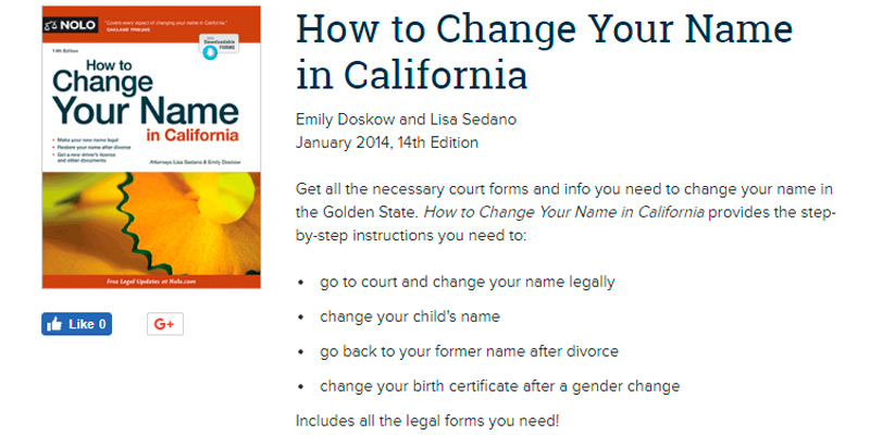 5 best name change services and forms reviews of 2018 bestadvisor review of nolo how to change your name in california solutioingenieria Images