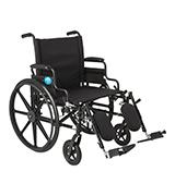 Medline MDS806575 K4 Extra-Wide Lightweight Elevating Wheelchair