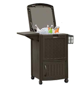 Suncast DCCW3000 Resin Wicker Patio Cooler