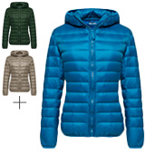 Wantdo Hooded Packable Ultra Light Weight Women's Short Down Jacket