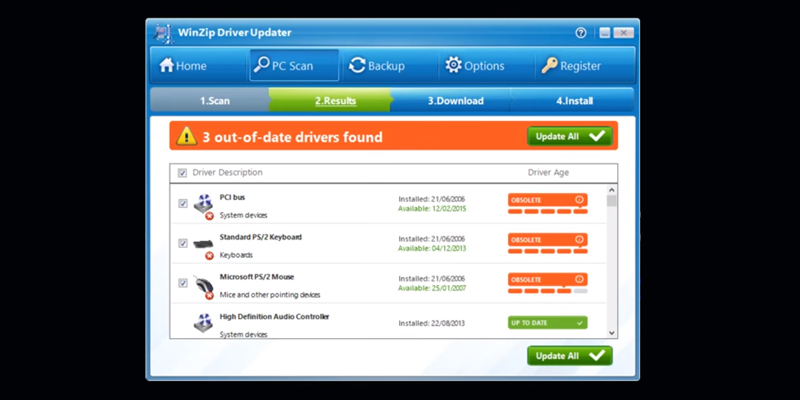 Detailed review of WinZip Driver Updater