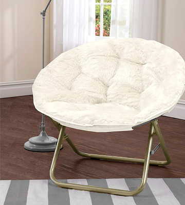 Review of Urban Shop HK656499 Foldable Papasan Chair with Faux Fur Cushion