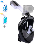 Greatever Newest Version Foldable 180° Panoramic View Snorkel Mask