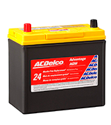 ACDelco ACDB24R Advantage AGM Car Battery (45 Ah, 325 Amp)