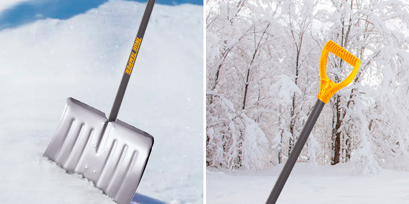 The AMES Companies, Inc 1641000 True Temper Aluminum Snow Shovel in the use