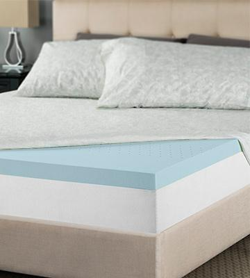 Review of Lucid® 2.5 Gel Infused Ventilated Memory Foam Gel Mattress Topper