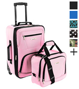 Rockland F102-PINK 2 piece Soft side Luggage Set
