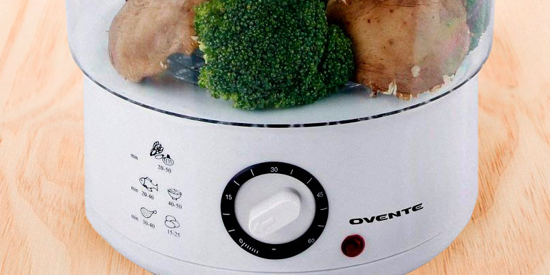 Ovente FS53 W Electric Vegetable and Food Steamer in the use