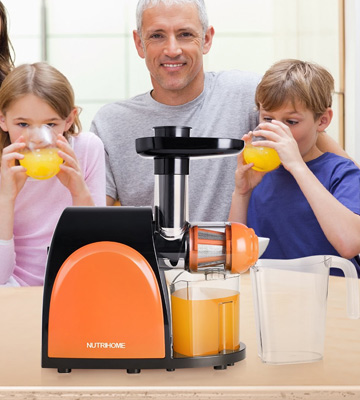 Review of Chefmos FU14ZZJNEW Masticating Juicer, Slow, Cold Press