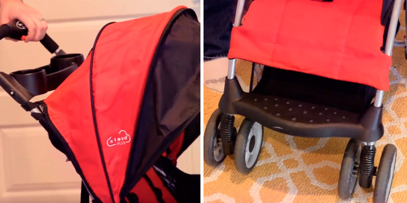 Kolcraft Cloud Plus Lightweight Stroller in the use