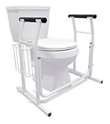 Vaunn Medical Bathroom Toilet Rail Safety Frame Handle