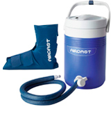Aircast Ankle Cryo/Cuff Cryo/Cuff Cold Therapy with Non-Motorized Cooler