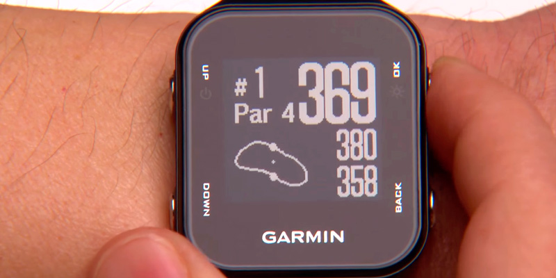 Garmin Approach S20 GPS Golf Watch with Step Tracking in the use