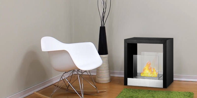 Ignis Products FSF-025 Tectum S Freestanding Ventless Ethanol Fireplace in the use