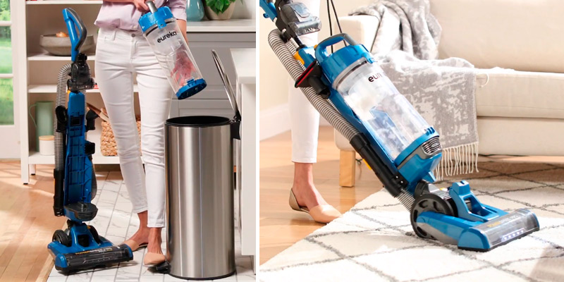 Eureka NEU190 PowerSpeed Turbo Spotlight with Swivel Plus Lightweight Upright Vacuum in the use