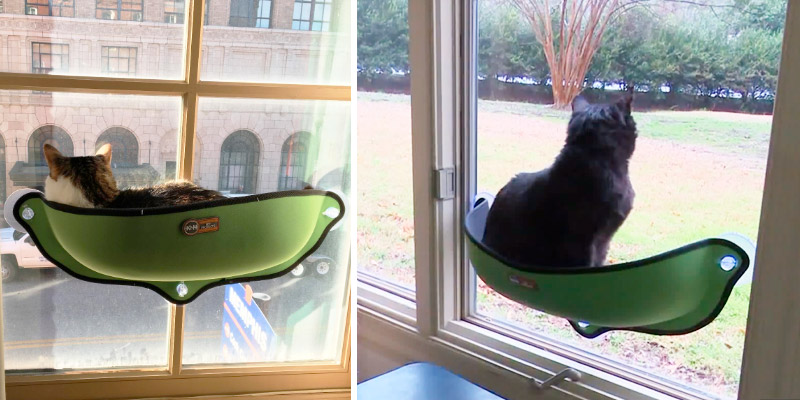 "Review of K&H Pet Products Kitty Sill Window Bed EZ Mount (27"" x 11"" x 6"")"