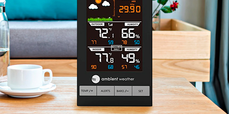 Review of Ambient Weather WS-2801 Advanced Wireless Color Forecast Station with Barometer