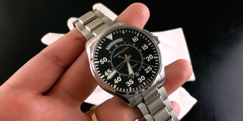Hamilton H64615135 Men's 'Khaki Aviation' Swiss Automatic Stainless Steel Dress Watch, Color:Silver-Toned in the use