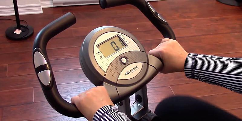 Exerpeutic Folding Magnetic Upright Bike with Pulse in the use