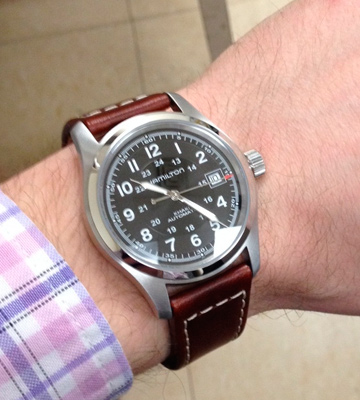 Review of Hamilton H70555533 Men's Khaki Field Stainless Steel Automatic Watch with Brown Leather Band