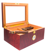 Mantello Cigars 100 Cigar Glasstop Desktop Humidor