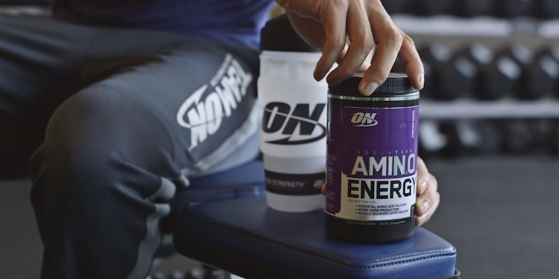 Optimum Nutrition 1043712 Amino Energy, Concord Grape, Preworkout and Essential Amino Acids in the use