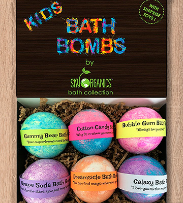 Review of Sky Organics Organic Essential Oil Kids Bath Bombs Gift Set with Surprise Toys
