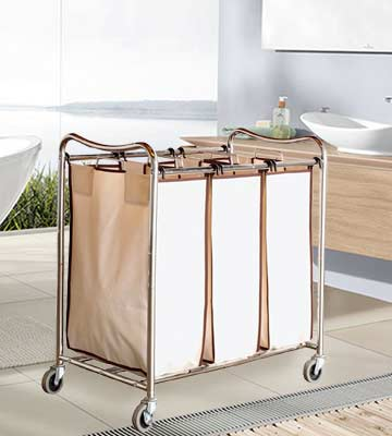 Review of Deco Brothers Heavy-Duty 3-Bag Laundry Sorter Cart