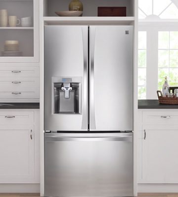Review of Kenmore Elite 73165 28.5 cu. ft. Bottom Freezer Refrigerator with Grab-N-Go Door