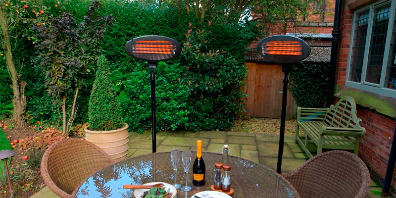 Trustech Patio Heater 1500W Outdoor Heater in the use
